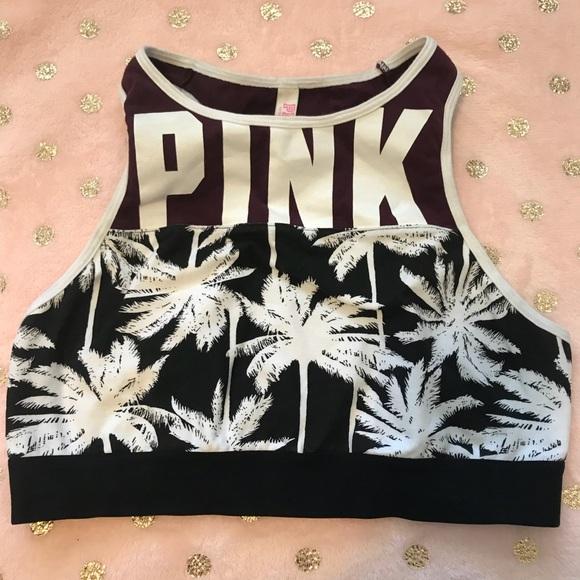 e60899313f VS Pink high neck Sports Bra (M L). M 5a6a1cab8af1c5ab39dbd8fb